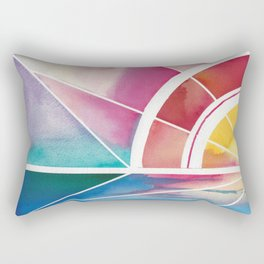 The Play of Light and Water Rectangular Pillow
