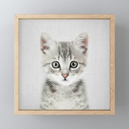 Kitten - Colorful Framed Mini Art Print