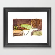 Draw me like one of your French Sloths Framed Art Print