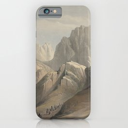 Vintage Print - The Holy Land, Vol 3 (1843) - Ascent of the Lower Range of Sinai iPhone Case