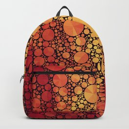 Orange and Yellow Circles and Triangles Backpack