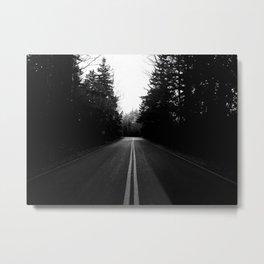 Driving Acadia Metal Print