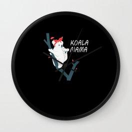 Koala Mom Animal Gift Wall Clock
