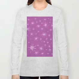 pink spots on pink background Long Sleeve T-shirt