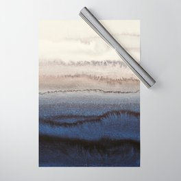 WITHIN THE TIDES WINTER BLUES by Monika Strigel Wrapping Paper