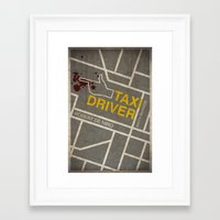 taxi driver Framed Art Prints featuring Taxi Driver by Jacob Wise