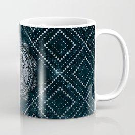 Gemini Zodiac Silver Embossed on the Star sky Coffee Mug