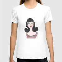 barbie T-shirts featuring Retro barbie by uzualsunday