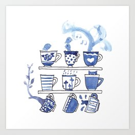 The Story of Tea Art Print