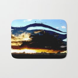 Dread Sunset Bath Mat