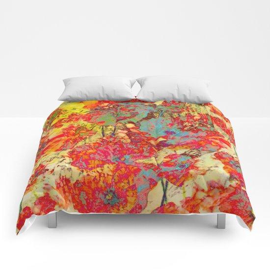 pop poppies Comforters