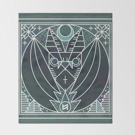 Bat from Transylvania Throw Blanket
