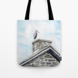 Heron on Watson's Mill Tote Bag