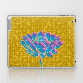 Lotus Holly Flower on Gold-leaf Screen Laptop & iPad Skin