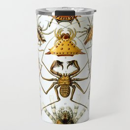 Haeckel Illustration Spiders Travel Mug