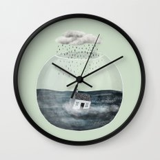 Glass Bowl House Wall Clock