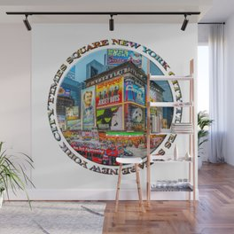 Times Square III Special Finale Edition badge Wall Mural