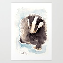 The Badger Art Print