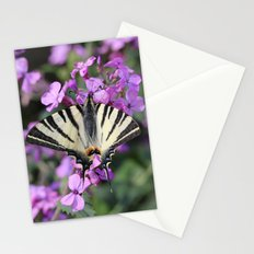 Butterfly on a Pink Flower Stationery Cards