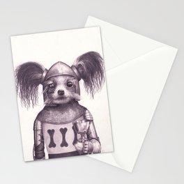 Papillon Knight - Medieval Dog Stationery Cards