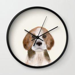 little beagle Wall Clock
