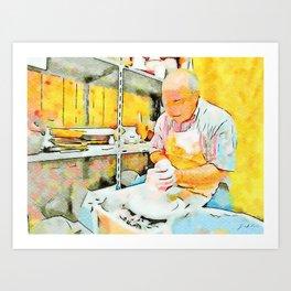 Ceramist craftsman Art Print