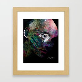 She Wears Her Scars Like a Warrior: a colorful texture abstract piece by KKingCreat Framed Art Print