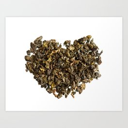 Dried and curled leaves of Oolong Art Print