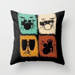 Drums Drummer Musicians Throw Pillow