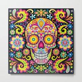 Sugar Skull Art (Spark) Metal Print