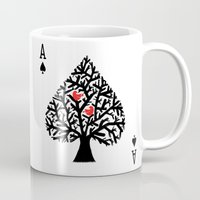 ace Mugs featuring Ace of spade by Picomodi