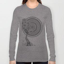 Sunrise Mandala with Tree Long Sleeve T-shirt
