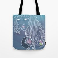 sushi Tote Bags featuring SUSHI by beerreeme