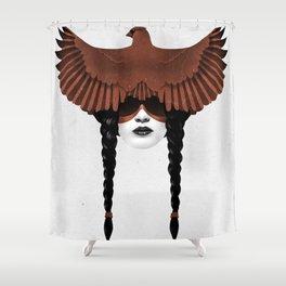 Dark Cardinal Shower Curtain