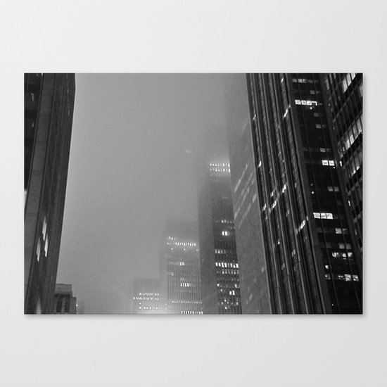 City in the Fog Canvas Print