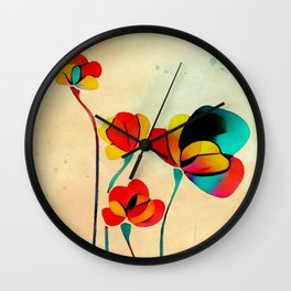 Exotic Watercolor Flower Wall Clock