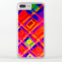 angled squares Clear iPhone Case
