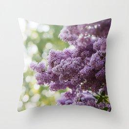 Violet Syringa vulgaris lila Throw Pillow