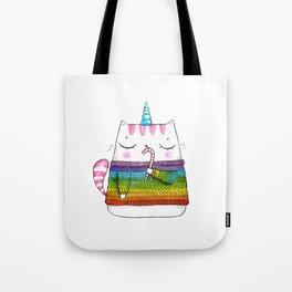 Winter caticorn Tote Bag