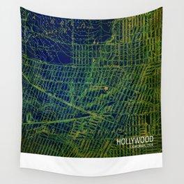 Holywood 1924 original green old map Wall Tapestry
