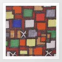 knit Art Prints featuring knit by colli1.3designs