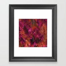 Imprinted Shocking Pink Metal Look Framed Art Print