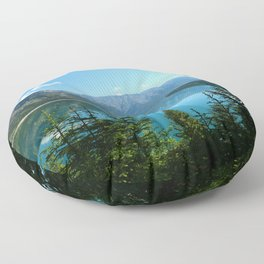 Beautiful Lake Minnewanka Floor Pillow