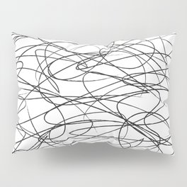 Hand Drawn Scribbles (black/white) Pillow Sham