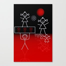 stick figures -01- Canvas Print