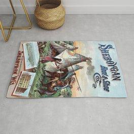 Vintage poster - Sheboygan Boot & Shoe Rug
