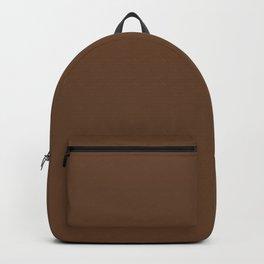 Van Dyke brown - solid color Backpack