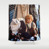 doll Shower Curtains featuring Doll by Jimmy Duarte