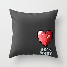 90's Baby Throw Pillow