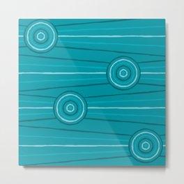 Reef Line Painting Metal Print